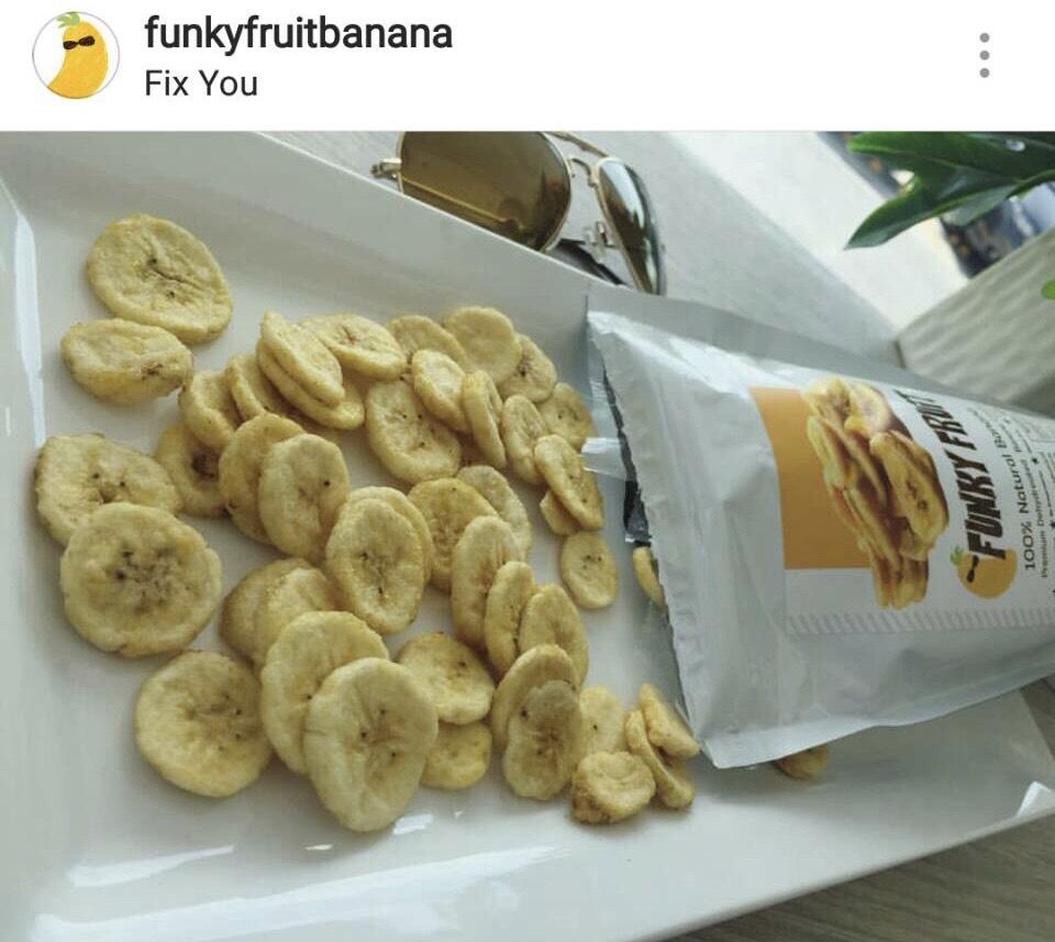 FunkyFruit ผลไม้แปรรูปกล้วยหอมทองแท้อบกรอบจากกล้วยหอมทองแท้ 100% รายแรกในไทย ไร้สารกันเสีย ไม่มีน้ำตาล ไม่ทำให้อ้วน ดีต่อใจ by  ปอ- ณฐมน นักร้อง/นักแสดง  กับบทบาทนักธุรกิจเสิร์ฟสินค้าเพื่อสุขภาพ ลุยตลาดเต็มสูบ