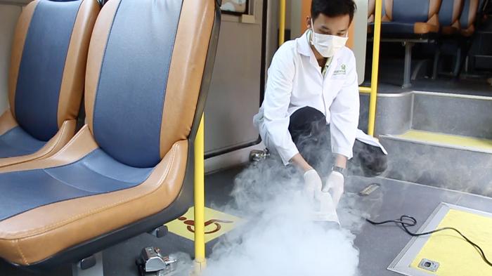 ฆ่าเชื้อบนรถ Smart Bus